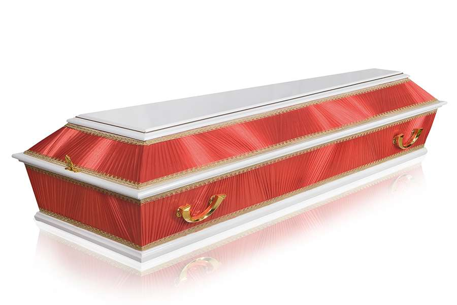 Гроб Комбинированный ФК-4Б красный стандарт