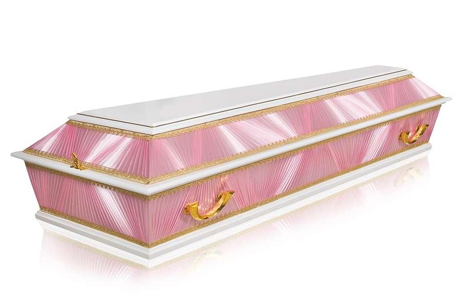 Гроб Комбинированный ФК-4Б розовый стандарт