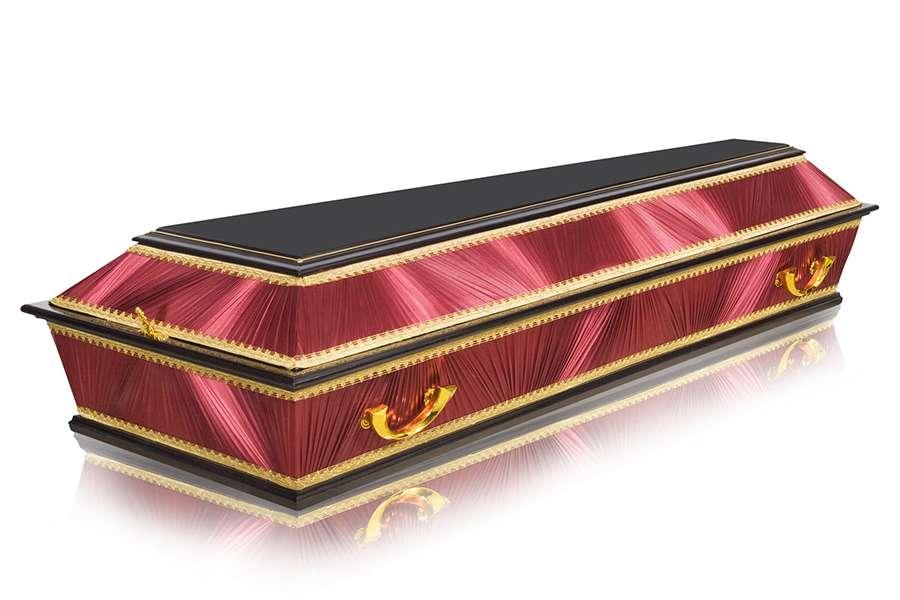 Гроб Комбинированный ФК-4Т бордовый стандарт