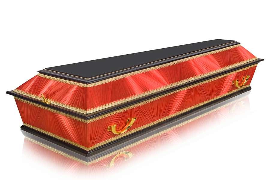 Гроб Комбинированный ФК-4Т красный стандарт