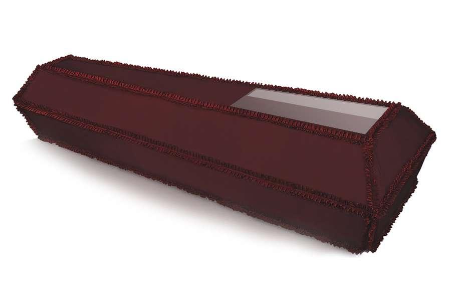 Гроб обитый тканью со стеклом (covid-19)