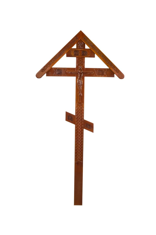 Крест дубовый КДЭ-03К резной с крышкой