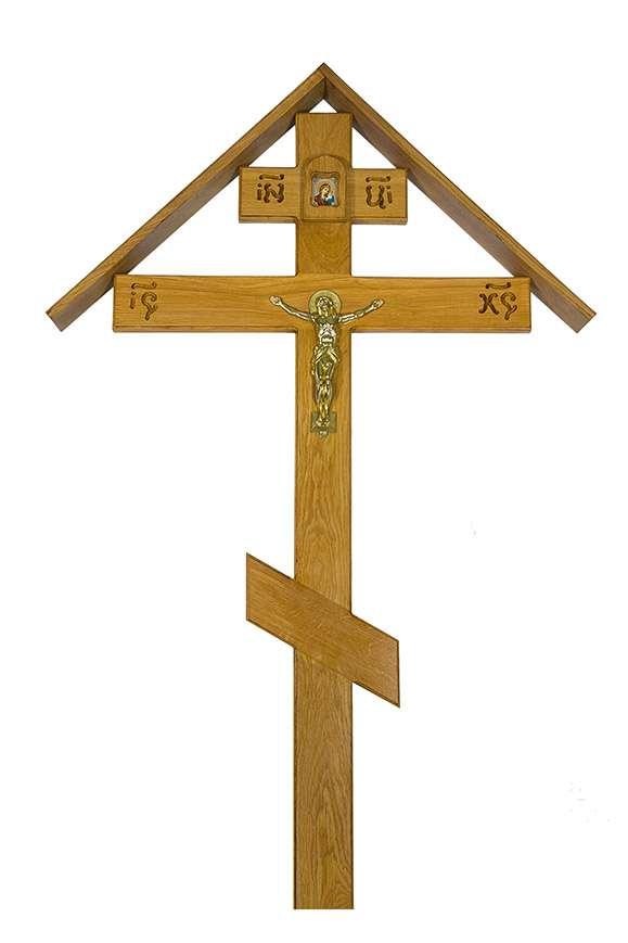 Крест дубовый КДЭ-05 «Большой домик»
