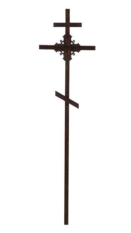 Крест сосновый КДС-12 угловой узор