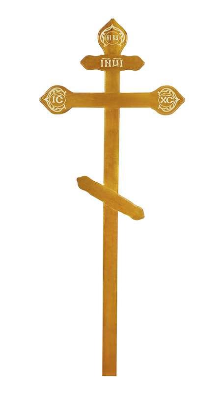 Крест сосновый КДС-15 «Фигурный» светлый