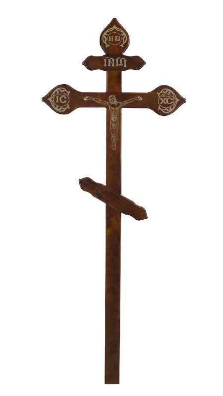 Крест сосновый КДС-16 «Фигурный» с распятием
