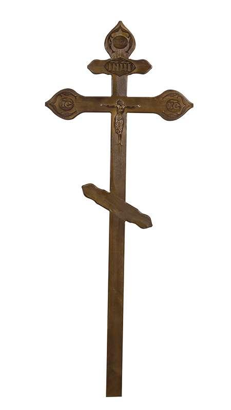 Крест сосновый КДС-18 «Фигурный» с распятием