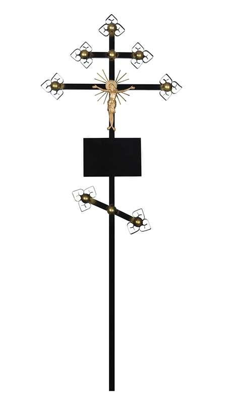 Крест металлический «Золото»