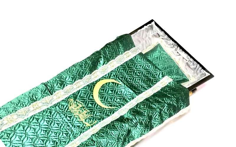 Мусульманское покрывало в гроб, стеганое