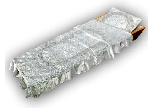 Комплект в гроб «Элегия» серебро