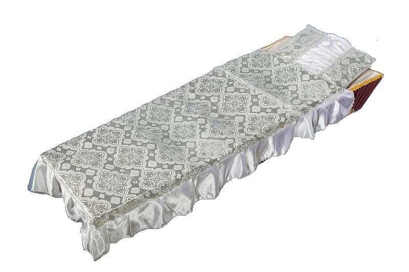 Комплект в гроб «Купеческий» серебро
