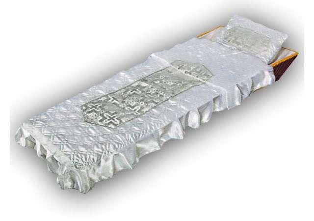 Комплект в гроб «Ладья» серебро