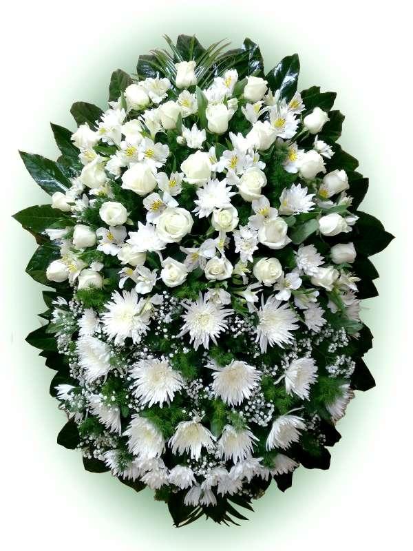 Венок из живых цветов №14