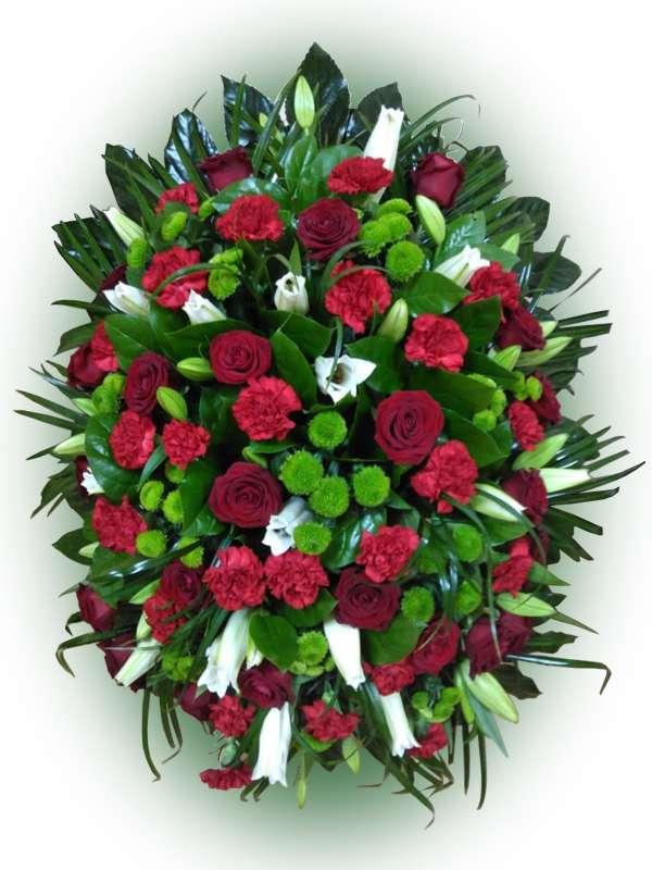 Венок из живых цветов №18